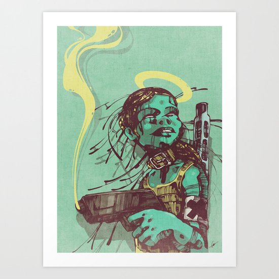 Guard II. Art Print