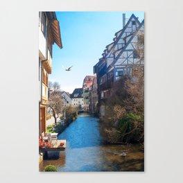 Fischerviertel Ulm / Fishermens quarter Ulm Canvas Print