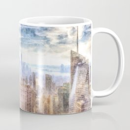 New York Manhattan Skyline Art Coffee Mug