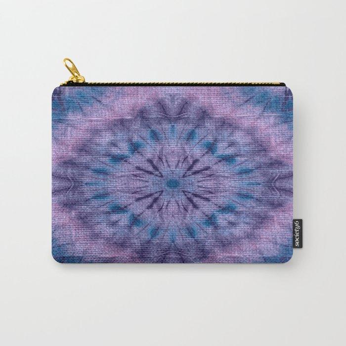 Purple Tie Dye Carry-All Pouch