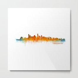 Vancouver Canada City Skyline Hq v02 Metal Print