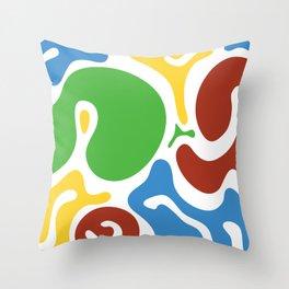 Spot colors Throw Pillow
