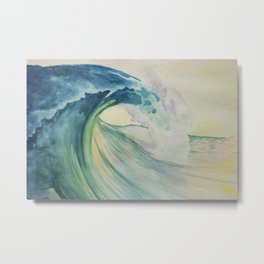 Incoming Energy Wave Metal Print