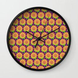 Sunflower Pattern_G Wall Clock
