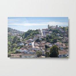 beautiful town view Metal Print
