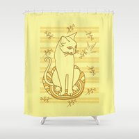 friendship Shower Curtains featuring Friendship by Sarinya  Withaya