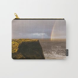 Rainbow and stormy sky at sunset. Sheringham, Norfolk, UK. Carry-All Pouch