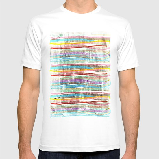 fancy stripes 3 T-shirt