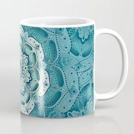 Winter blue floral mandala Coffee Mug