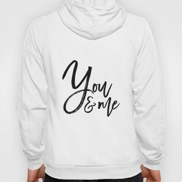 you and me embroidery wedding embroidery design ampersand applique Hoody