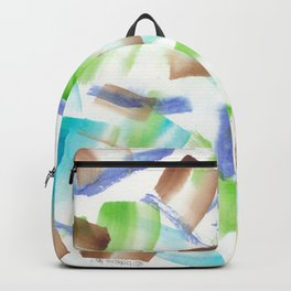 180719 Koh-I-Noor Watercolour Abstract 8  Watercolor Brush Strokes Backpack
