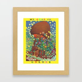 COLORS Framed Art Print