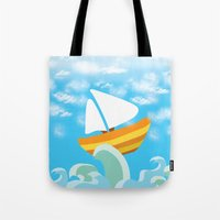 sail Tote Bags featuring Sail by Lany Nguyen