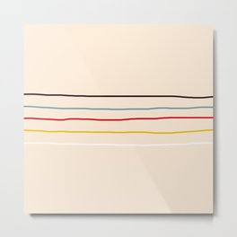 Abstract Retro Lines #3 Metal Print