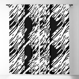 Black & White Scribble Pattern Blackout Curtain