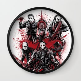 LEGENDS OF HORROR GRAY Wall Clock