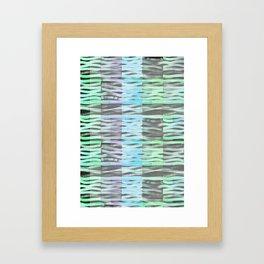 Wavy light green Framed Art Print