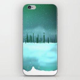 City winterscape iPhone Skin