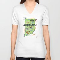 indiana V-neck T-shirts featuring INDIANA by Christiane Engel