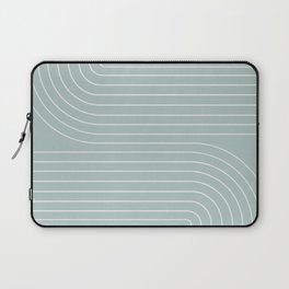 Minimal Line Curvature - Sage Laptop Sleeve