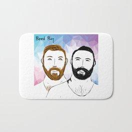 Beard Boy: Buttons and Snaps Bath Mat