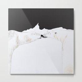 Polar bear lovers Metal Print