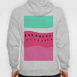 Modern summer watermelon color block neon pink turquoise Hoody