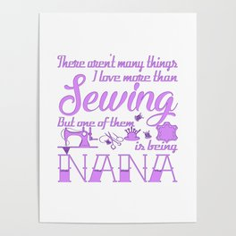 Sewing Nana Poster
