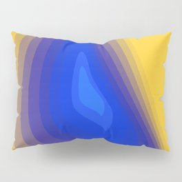 Blue and yellow Pillow Sham