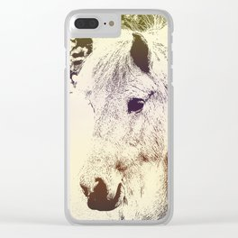 Colored Pony Clear iPhone Case