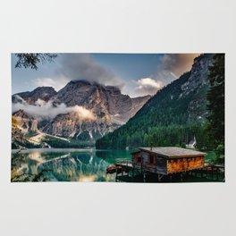 Italy mountains lake Rug