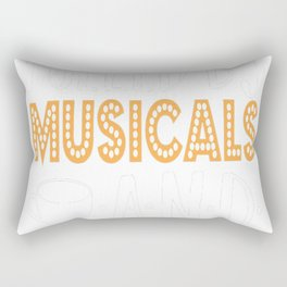 Fueled by Musicals and Tea Rectangular Pillow