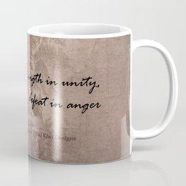 Strength in Unity - Defeat in Anger - Maori Wisdom - metalic Coffee Mug