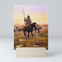 """Hunting"" by Charles M Russell Mini Art Print"