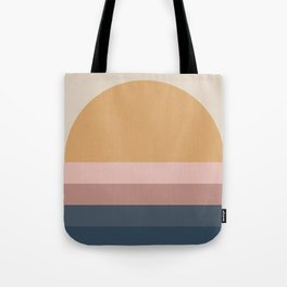 Minimal Retro Sunset - Neutral Tote Bag