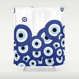 Multi-eyed Shower Curtain