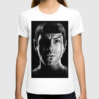 spock T-shirts featuring Spock by Sarah Riebe