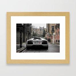 Lamborghini Aventador. Framed Art Print