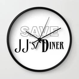 Save JJ's Diner Wall Clock