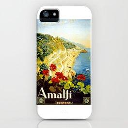 Amalfi Coast, Italy Vintage Travel Poster iPhone Case