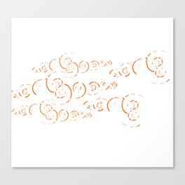 Splatter Swirls Canvas Print