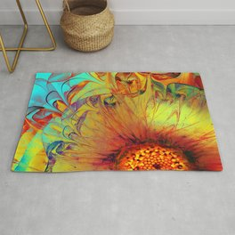 Sunflower Abstract Rug