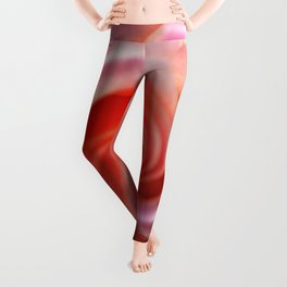 Spiral Pink Rose Flower Close up Leggings