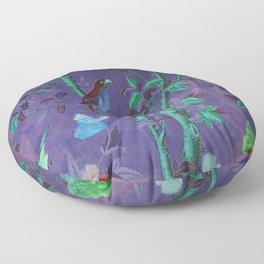 Aubergine & Teal Chinoiserie Floor Pillow