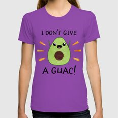 I don't give a guac! Womens Fitted Tee LARGE Ultraviolet