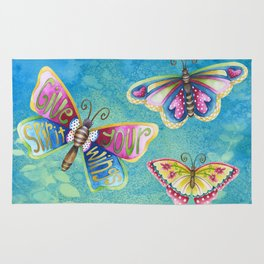 Give Your Spirit Wings  Rug