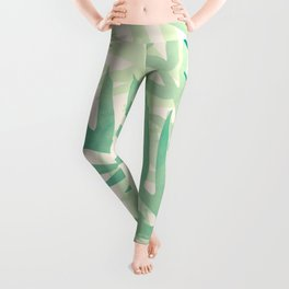 Abstract Tropical Palms Leggings