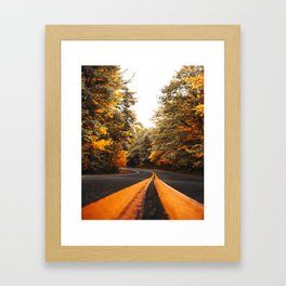 on the road in vermont Framed Art Print