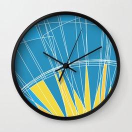 Abstract pattern, digital sunrise illustration Wall Clock