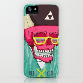 Hell Yeah Skull 2 iPhone Case